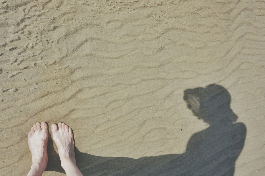 Looking down... | Me And My Shadow Abstract Creative Light And Shadow Seaside Sand Nature_collection Getting Inspired Walking The Great Outdoors - 2016 EyeEm Awards Edge Of Imagination Bibione Pineda The Essence Of Summer Nature's Diversities EyeEm Italy |