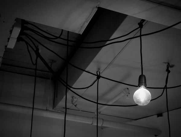 Lighting Equipment Illuminated Low Angle View Electricity  Hanging No People Light Bulb Indoors  Home Interior Architecture Welcome To Black Pendant Light Lamplight Lamploversoftheworldunite Lamp Lovers Of The World Unite Power Line  Artoflamps Lamps Collection Light Bulb Shooting Blackandwhite