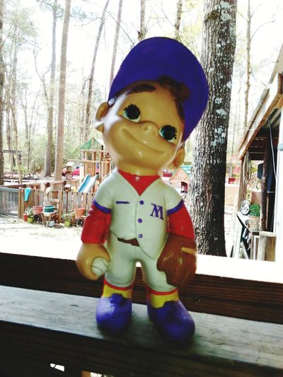1970 Mats baseball dreamer lol cute little guy outside statue display Human Representation Toy Arts Culture And Entertainment Figurine