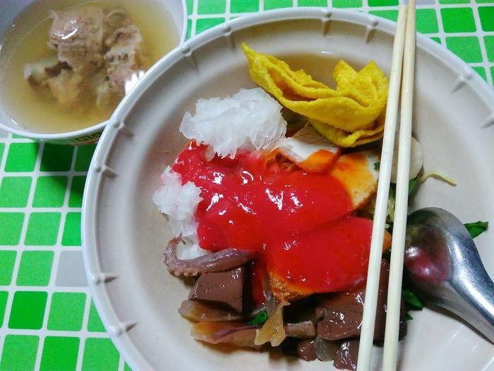Yen Ta Fo Noodle Noodles Soup Cuisine Delicious Red Dish Menu Yentafo Yentafour Thai Food Thai Cuisine Street Food Style Thailand Si Racha Chon Buri