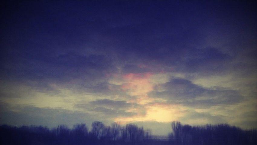 Lake Nature Reflection Sky Sunset Tranquility Tree