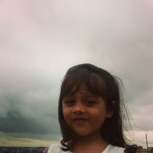 Child Outdoors Weather Clouds  Smile :) Beauty In Nature Beautiful Girl