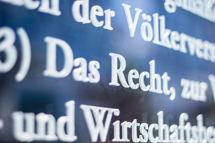 Eyeem Market Grundgesetz Typography Das Recht Closeup Typo Law Letters Glass Engraved Legal Courthouse Buchstaben Copy Space Negative Space Backgrounds Textures And Surfaces Typographie Typeface  Pattern Pieces Capture Berlin Discover Berlin