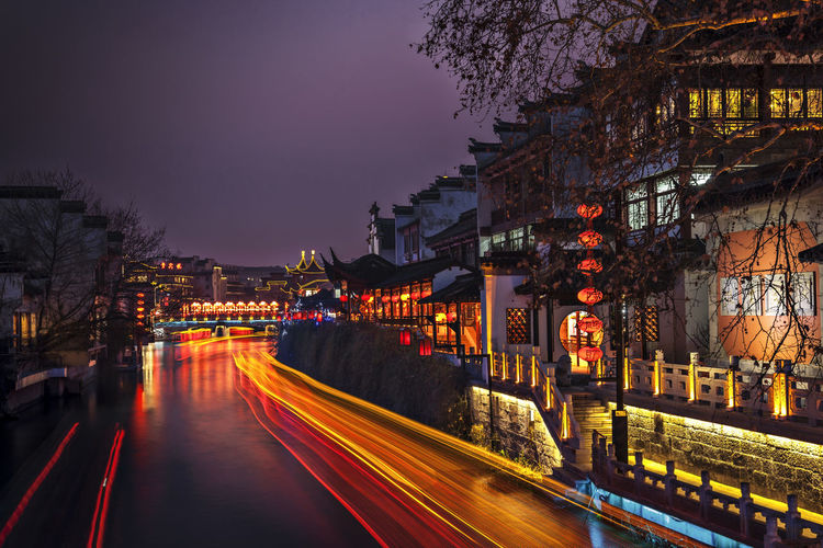 Qinhuai River Night View Confucius Temple HUAWEI Photo Award: After Dark Qinhuai River Architecture Building Building Exterior Built Structure City Illuminated Nature Night Night View No People Reflection Reflections In The Water Tourism Tourist Attractions Water