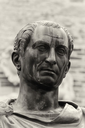 Detail of the head of Cesar's statue Giulio Cesare HEAD Julius Caesar Statue Bronze Statue Bronzo Close-up Day No People Statua Statue Testa