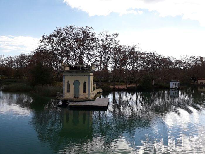 Banyoles Girona Catalunya Catalonia Estany De Banyoles Water Tree Reflection Sky Cloud - Sky Architecture Lake