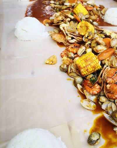 Seafood Food Restaurant Family Feast Seafood Crazy!! Tasty Delicious Nyummy Beach Water Close-up Seashell Shell Gastropod Hermit Crab Antenna Mussel Animal Shell Prepared Food Served Dried Fruit