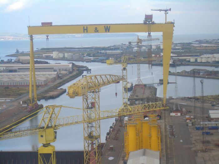 Belfast Crane Goliath Harland And Wolff Harland&Wolff Industrial Industrial Landscapes Industrial Photography No People Northern Ireland Samson Wind Wind Turbines