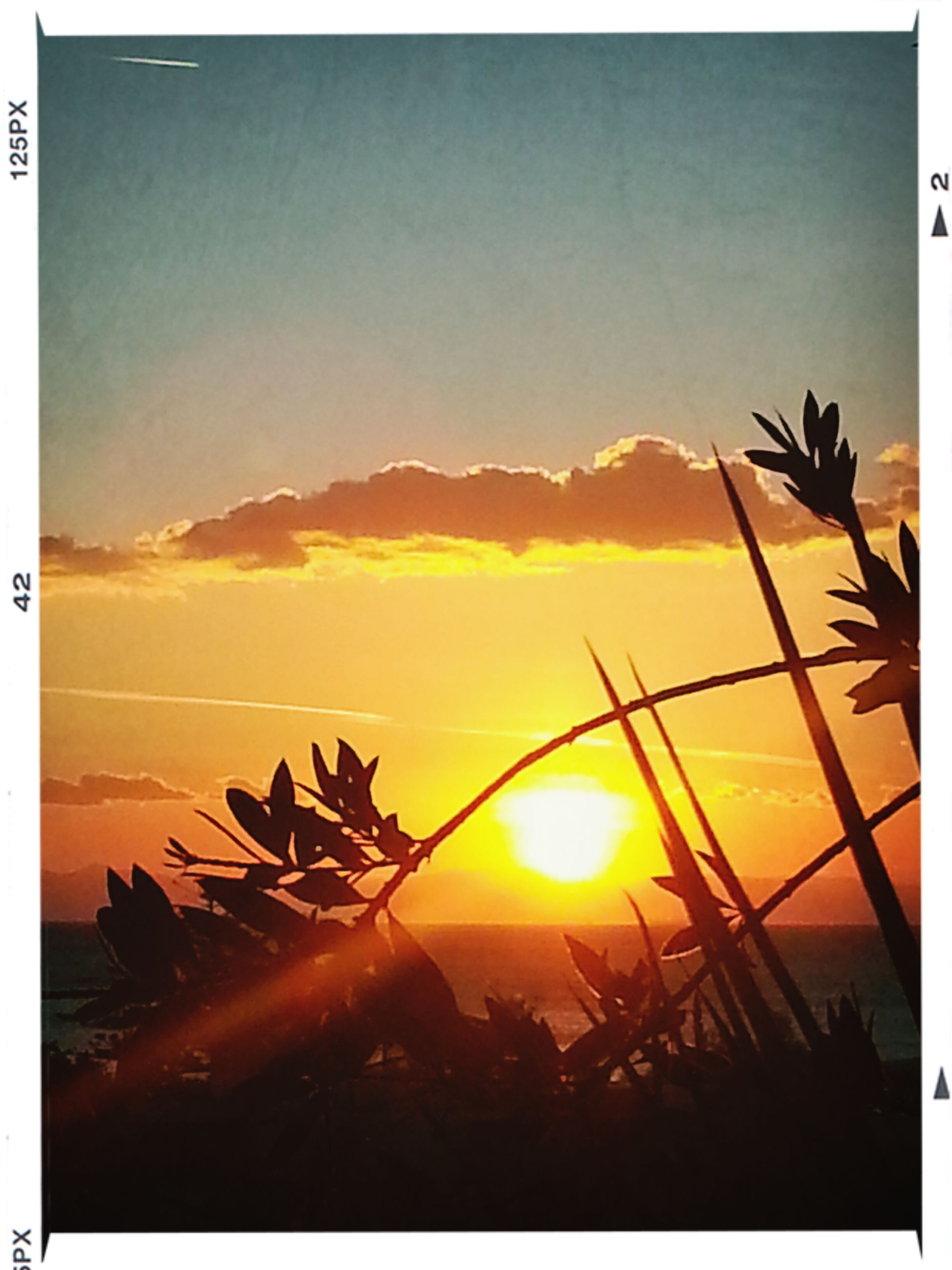 sunset, sun, transfer print, auto post production filter, sky, orange color, silhouette, sunbeam, sunlight, lens flare, beauty in nature, nature, scenics, built structure, back lit, low angle view, outdoors, no people, building exterior, cloud - sky