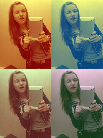kiddinnnnnn' ,double double me,not bad;) Just Kidding Through The Mirror Colorful Not Bad
