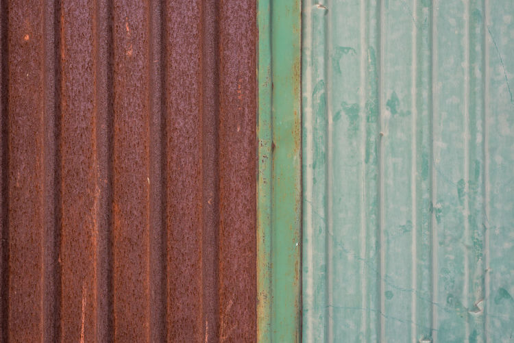 Architecture Backgrounds Brown Close-up Corrugated Corrugated Iron Damaged Day Decline Deterioration Full Frame Green Color Iron Metal No People Old Pattern Run-down Rusty Sheet Metal Textured  Weathered Wood - Material
