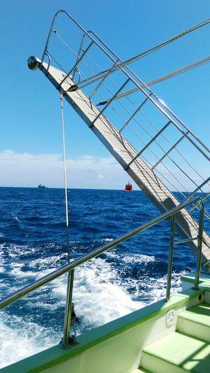 Ship Shiptour Traveling On The Way Atlantic Ocean Ocean View