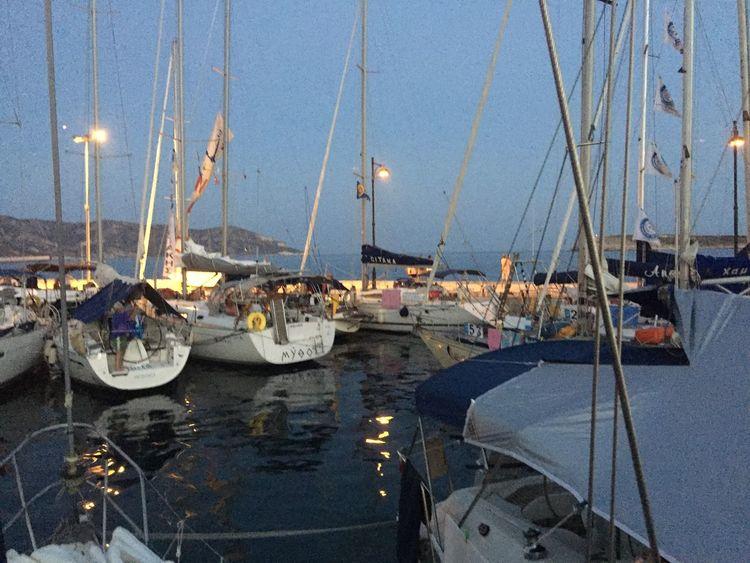small harbor , sea , Greek island ,sailing boats , adventures