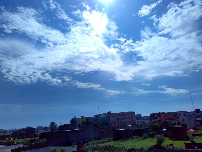 Architecture Built Structure Building Exterior Residential Structure Blue Residential Building Sky City Day Cloud Residential District Outdoors Cloud - Sky Sunny No People Scenics Gauravsphotography