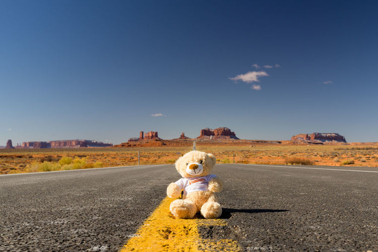 Monument Valley Day Journey Nature No People Outdoors Road Sky Teddy Bear