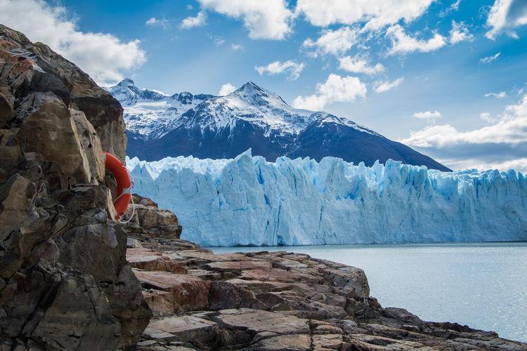 Scenic view of glaciers