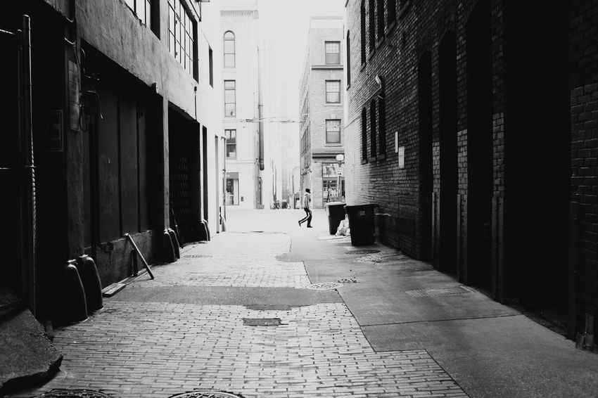 Took this photo not long after I moved to Seattle. I was exploring downtown Seattle and found this interesting alley. Post Alley is right across the street. Alley Black And White Explore Fuji FUJIFILM X-T1 Pike Place Market Post Alley Seattle Sidewalk Street Streetphotography Walk