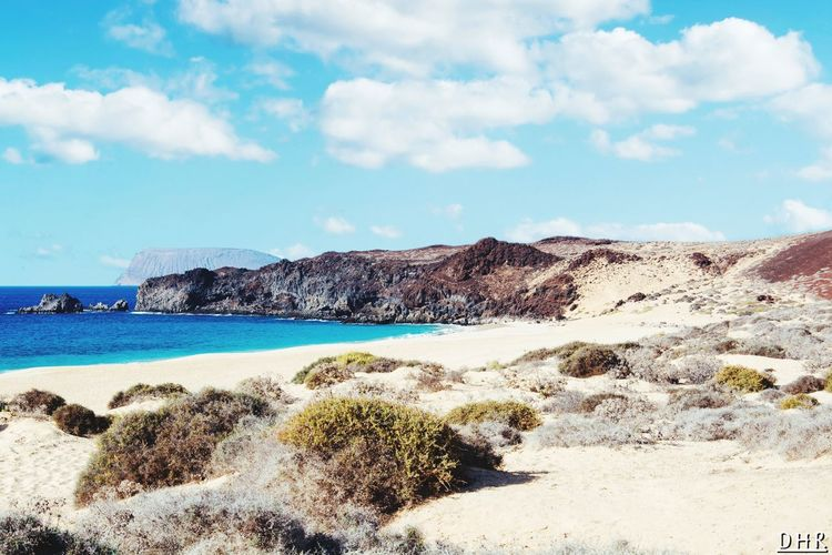 EyeEm Selects Beach Playadelasconchas Lagraciosa Sky Sea Sand Outdoors Nature Day Rock - Object Cloud - Sky No People Water Beauty In Nature Horizon Over Water Dhrfotos Lanzarote Paradise Travel Destinations Beauty In Nature