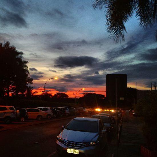Brasília Orange Sky Skyporn Céu Nature Natureza Sunset Sunset_collection Clouds