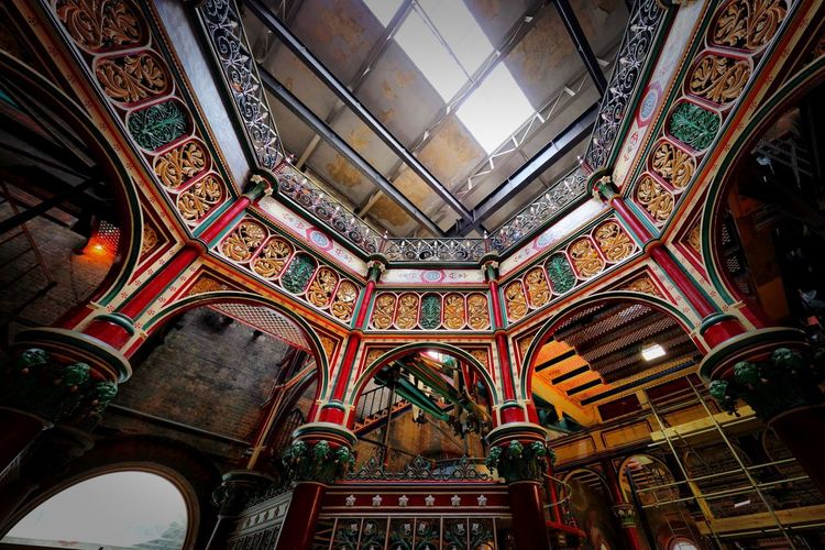 Crossness Pumping Station Architecture Built Structure Low Angle View Indoors  Ceiling No People Religion