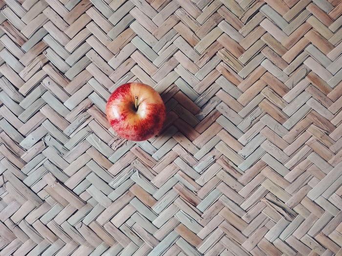 High angle view of apple