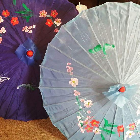 My beautiful handmade umbrellas I bought at the monroe county fair yesterday