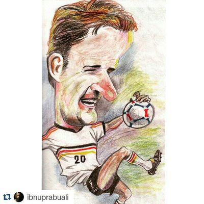 Repost @ibnuprabuali with @repostapp ・・・ Art Illustration Drawing Draw Picture Photography Artist Sketch Sketchbook Paper Pen Pencil Artsy Instaart Gallery Masterpiece Creative Instaartist Graphic Graphics Artoftheday Oliverbierhoff Germany BierHoff comic caricature worldcup striker dfb