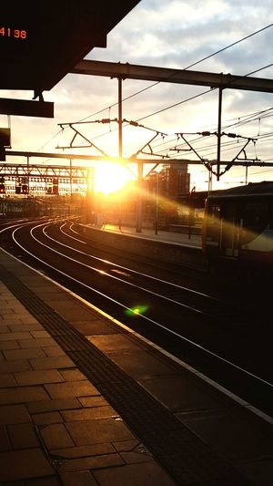 Sunset Railroad Track City No People Outdoors Sky Illuminated Leeds, UK Train Station Trainline Still Tranquil Industrial Yorkshire Travel Rail Travel
