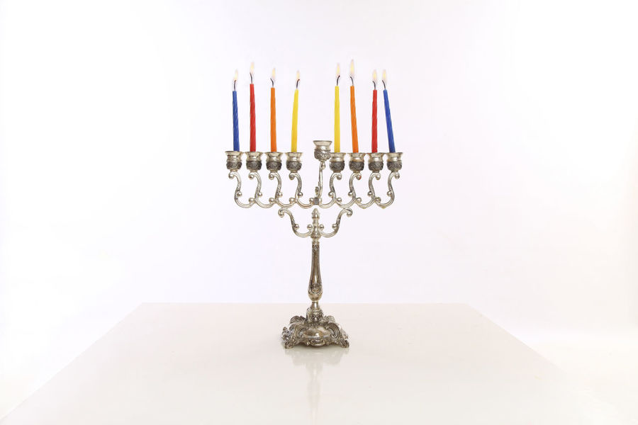 menorah with eight hanuka candles Hanukkah Menorah Hanukkah Candles Holiday Jewish Candle Light Close-up Festive Hanukkah Indoors  Menorah No People Religion Studio Shot White Background EyeEmNewHere