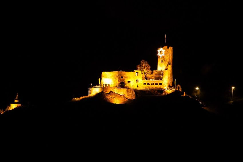 Castle at night EyeEm Best Shots EyeEm Gallery EyeEm Selects Night Architecture Built Structure Illuminated Building Exterior Sky Copy Space Low Angle View Old Building No People Nature Clear Sky The Past History Outdoors Religion Dark City Belief