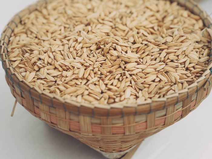 Food Food And Drink Freshness Indoors  Healthy Eating Wellbeing Still Life Ready-to-eat Bowl Rice High Angle View No People Abundance Container Close-up Rice - Food Staple Wicker Seed Cereal Plant
