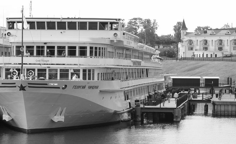 EyeEm Gallery Eye4photography  Black And White Photography Black & White Politics And Government Water Nautical Vessel Harbor Moored Commercial Dock Passenger Ship Boat Deck Sailing Ship Passenger Craft Cruise Ship Yacht Sailor Cruise Tall Ship Industrial Ship Ship Boat