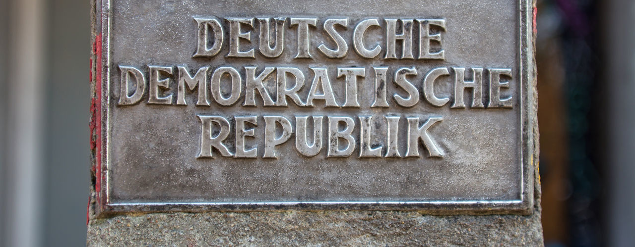 ddr sign berlin germany DDR DDR Grenze DDR Time Sign Architecture Berlin Wall Memorial Close-up Communication Day No People Outdoors Text