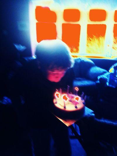 Big blow? Birthday Boy Blowing Candles