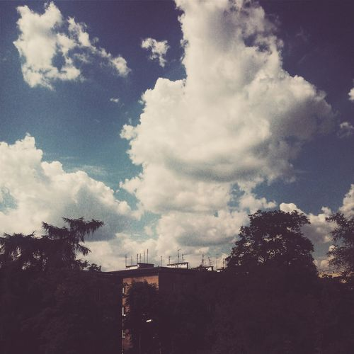 Summer day in Cracow, Poland. Atmospheric Mood Cloud Cloud - Sky Cloudscape Cloudy Dramatic Sky Dusk Hot Summer Day Hot Summer Days In A City Moody Sky Outdoors Residential District Silhouette Sky Summer In The City Sunset Weather