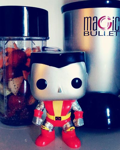 Indoors  Close-up Vibrant Color Eyem Best Shots Funko Funkofunatic Colossus Magicbullet Makingsalsa Homemade Food Early Morning Wake Multi Colored Man Made Object Food Blender Silver  Black Samecolors Front View Still Life Toy Indoors  Doinghisthing Colorful