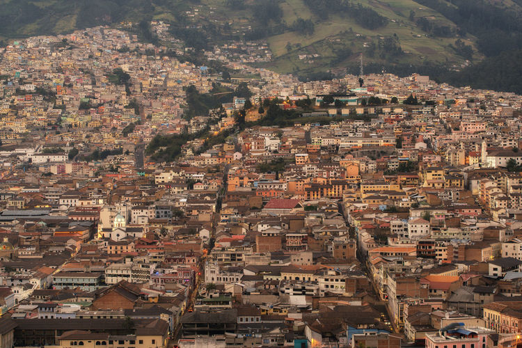 Aerial View Of Quito Cityscape