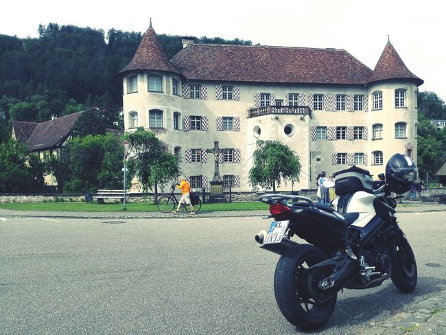Water Castle Castle On A Trip Time To Ride Motorcycle Old Building
