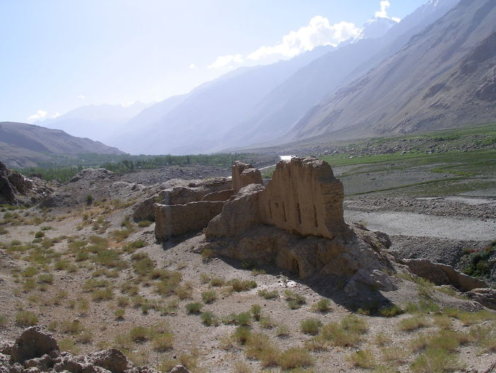 Ancient silk route ruins near the Khorog in the Tajik Pamirs Ancient Ruins Beauty In Nature Day Khorog Landscape Mountain Nature Outdoors Pamir Highway Pamir Mountains People Ruins Silk Road Silk Route Sky Tajikistan Fresh On Eyeem