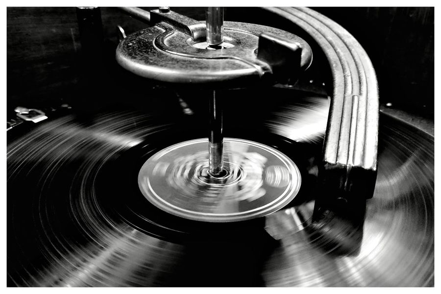 Turning Record Music Old Antique Netherlands Blackandwhite Blackandwhite Photography Blackandwhitephotography Blackandwhitephoto Black And White Black And White Photography EyeEm Best Shots - Black + White Record Player Needle Gramophone Record Close-up Turntable Analog Audio Equipment
