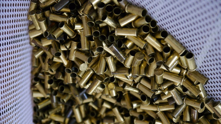 Close-up of bullets in basket
