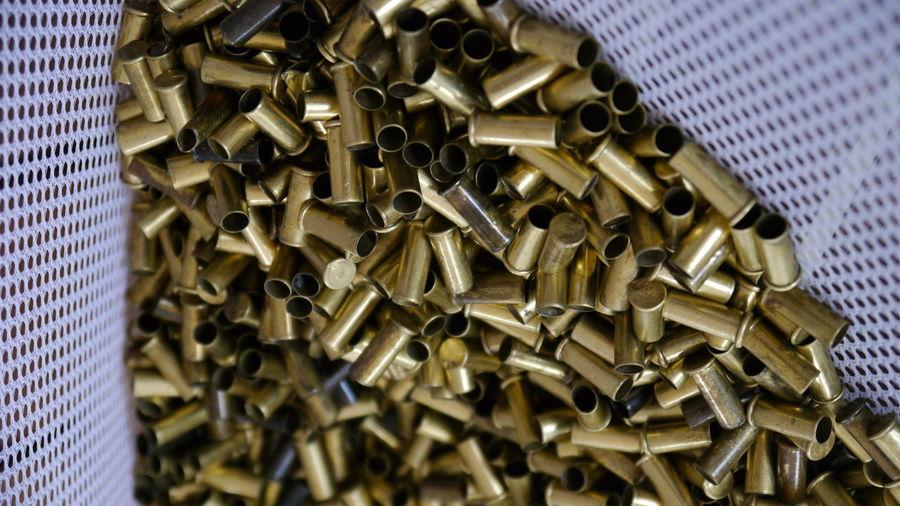 Close-Up Of Bullets In Basket