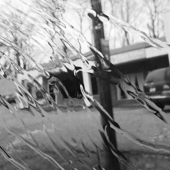 Melting snow blowing doen the window Outdoors Nature No People Day Close-up Water Sky Love My Life  Spartanburg, SC Love Where You Live Fragility Freshness Melting Snow Black And White