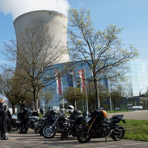 "I had a nice Biker Tour yesterday with my Pals from Bikersudbaden (""Energy-Tour"") inclusive a visit and tour through the nuclear power plant leibstadt kkl switzerland motorcycle baden germany yamaha fz8"