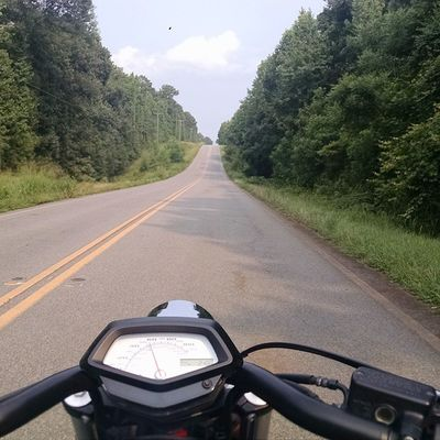 Decided that the 11 hour route would be more enjoyable than the 8. Backroadsalltheway Backroads Twowheelsmovethesoul Hondafury Fury Honda Floridabound  Middleofnowheregeorgia
