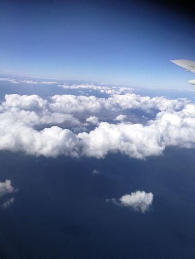 Cloud - Sky Sky Blue Cloudscape Nature Travel Airplane
