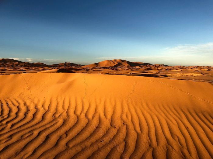 Merzouga desert EyeEmNewHere Wallpaper Trip Scenics - Nature Landscape Land Sky Desert Sand Environment Sand Dune Arid Climate Climate Nature First Eyeem Photo