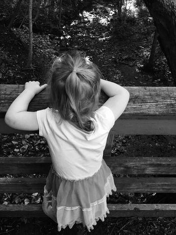 Creek Outside MapleWoods Water Gwennie Goose Gwinning Toddlerlife Bridge Gwenniegoose Sillygirl Blackandwhite