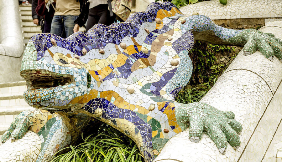 Gaudi's dragon Close-up Day History Human Body Part Low Section Nature One Person Outdoors People Real People