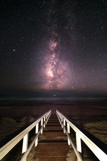 Milkyway over the Baja California Astronomy Beauty In Nature Direction Galaxy Horizon Horizon Over Water Milky Way Milkyway Nature Night No People Outdoors Pier Railing Scenics - Nature Sea Sky Space Star Star - Space The Way Forward Tranquil Scene Tranquility Water